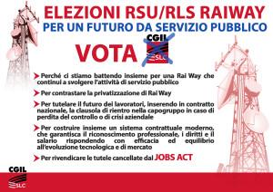 A3 elezioni RSU manifesto orizzontale