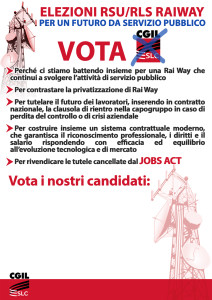 A4 elezioni RSU manifesto