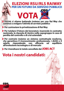 A3 elezioni RSU manifesto